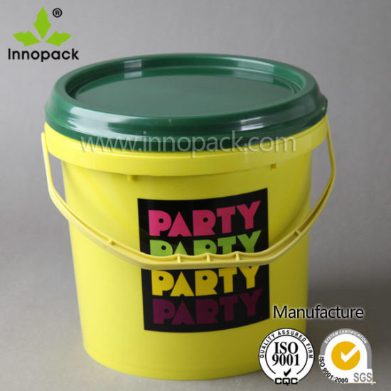 5l Kids Small Plastic Beach Buckets Whole With Printing