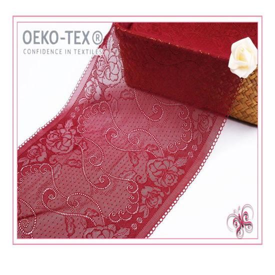 Seamless Fabric for Underwear Nylon Spandex Trim Lace