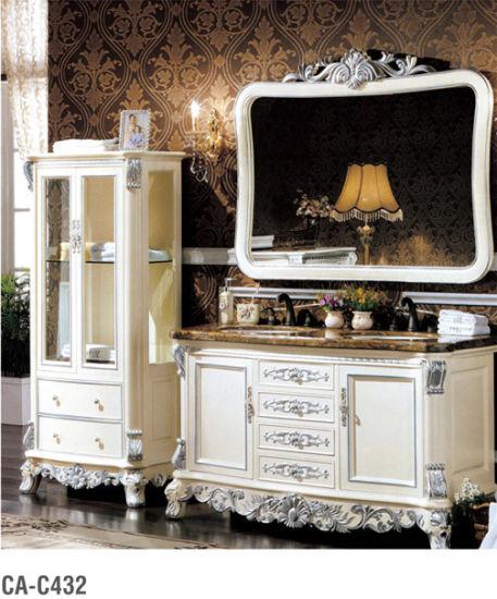 Classical Solid Wood Bathroom Furniture Ca-C432