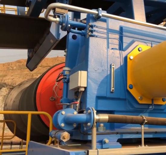 Upward Material Handling Equipment Large Inclination Upward Belt Conveyor System for Material Handling