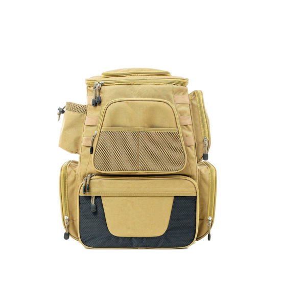Fishing Tackle Backpack Waterproof, Heavy Duty Fishing Bag with Multiple Pockets Multifunctional, Large Bag for Fishing, Hunting, Hiking, and Camping