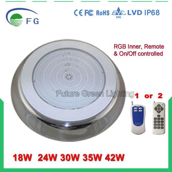 12V 18W 24W 35W 42W RGB CW Wall Mounted Resin Filled LED Swimming Pool Light