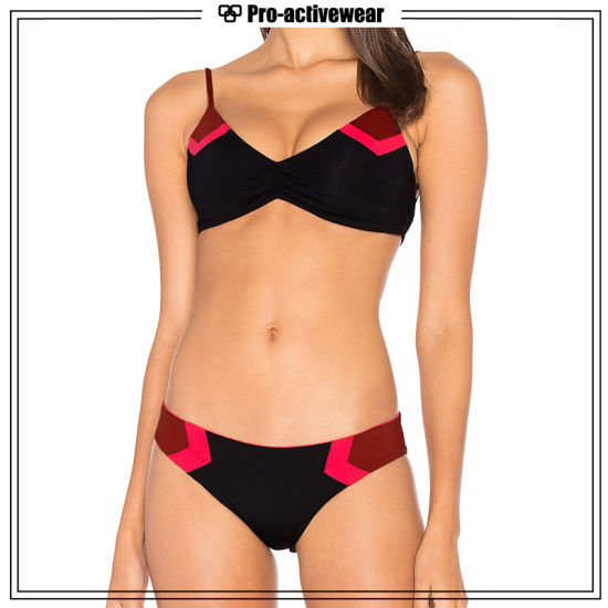 Factory Private Label Bathing Suit Two Pieces Women Nylon Bikini pictures & photos