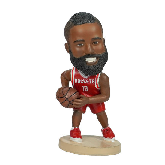 12 Cm Personalised Polyresin Famous NBA Baller Paul George Action Figure Car Dashboard Bobble-Head