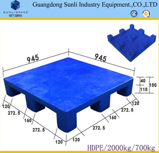 9 Feet HDPE Solid Deck Standard Plastic Pallet Size