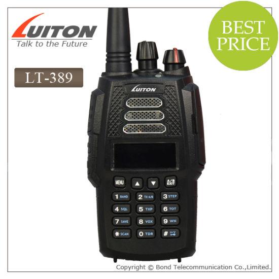 VHF UHF Handheld Transceiver 128 Channels 5W Lt-389