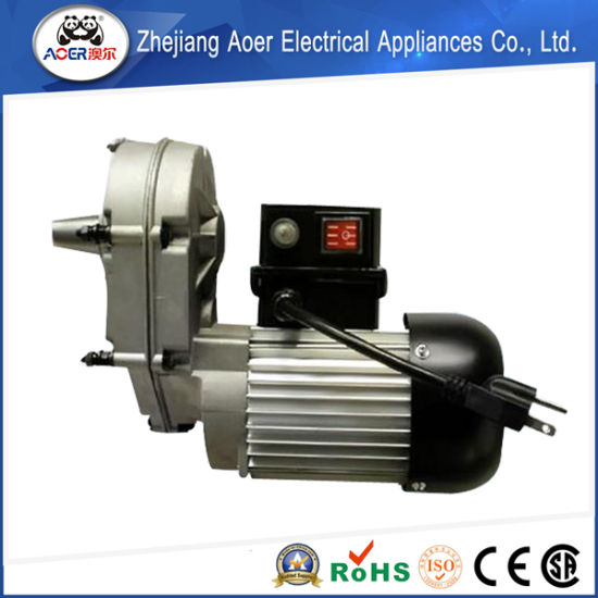 China ac single phase reversible slow speed 250w electric for Electric motor gear reduction