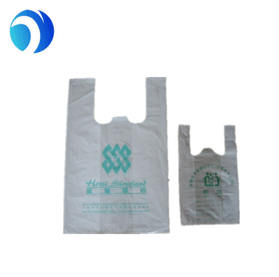 Customize T Shirt Carryout Bag For Packaging With One Color Printing