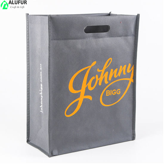 Nonwoven U Cut Tote Bags with Reinforced Sewing Around
