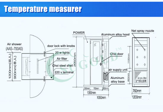 Laboratory Automatic Blow Cleanroom Air Shower (FLB-2400) pictures & photos