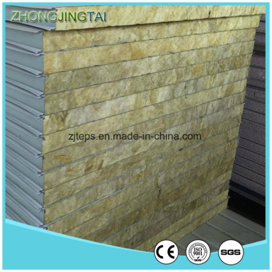 High-End Corrugated Steel Foam/PU/Glass Wool/Rock Wool Sandwich Roof/Wall Panel for Warehouse pictures & photos