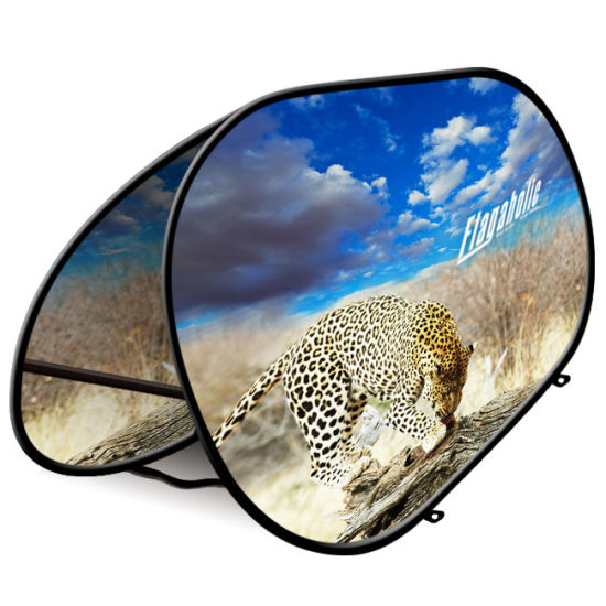 Light Folding Double Sided Oval Pop up a Frame Banner Display pictures & photos