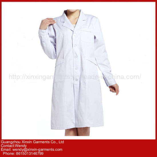 Wholesale Design Cotton Medical Wear White Lab Coat (H98)
