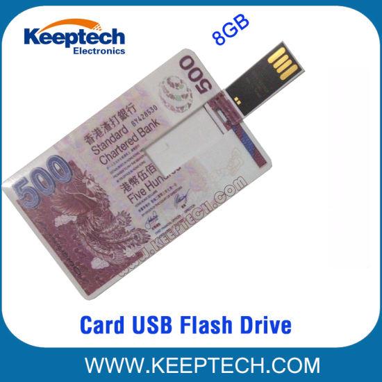 Card USB Flash Drive with Banknote Printing 32GB 64GB