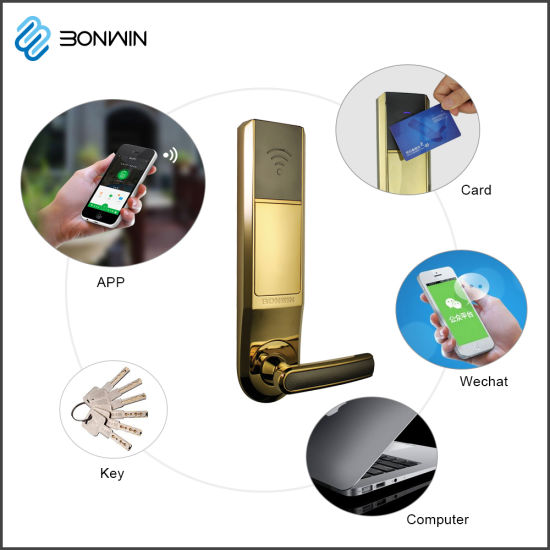 Smart Zinc Alloy Electronic Wireless Hotel Door Lock pictures & photos