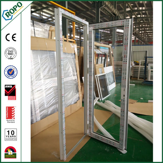 China New Heat Insulated Pvc Profile Modern French Door China Upvc