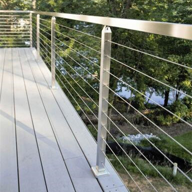 China Building Stainless Steel Balcony Wire / Cable Railing for ...
