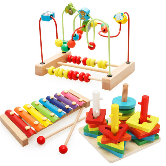 Wooden Education Bead Math Counting Xylophone Music Stacking Toy Set (GY-W0085) pictures & photos
