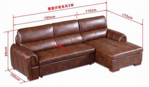 China Italian Style Corner Sofa Bed