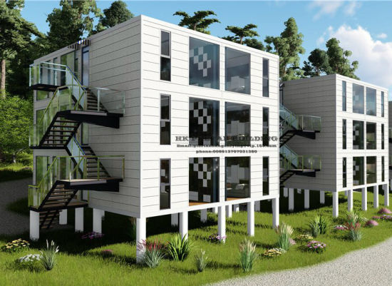 40FT Modular Prefab/Prefabricated Movable Container House for Multilevel Apartment pictures & photos