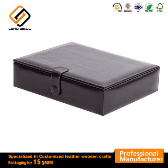 Cover Leather Jewelry Gift Packing Box for Female pictures & photos
