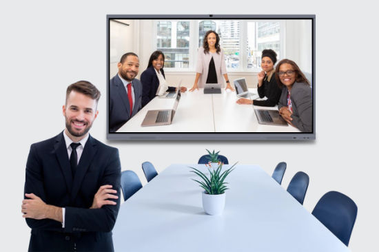75 Inch LED Display 20 Touch Interactive White Board for Office Teleconference