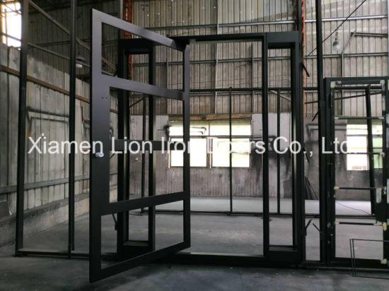 Us Villa Main Entry Door Modern Design Pivot Iron Doors with Sidelights & China Us Villa Main Entry Door Modern Design Pivot Iron Doors with ...