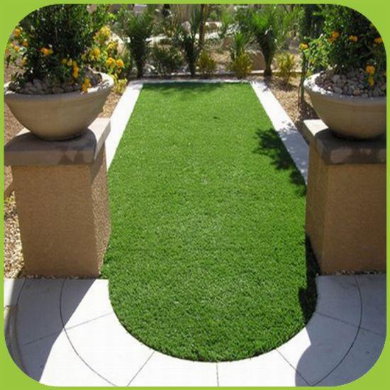 C-Shape 35mm 4-Tones Artificial Grass for Roof Garden Balcony