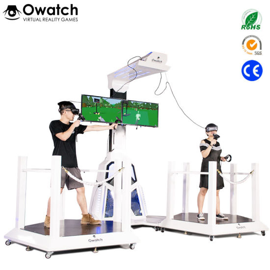 china modern technology double players vr space walking platform