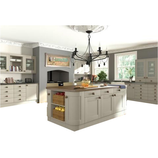 [Hot Item] Traditional Style Island Kitchen Design Kitchen Cabinet