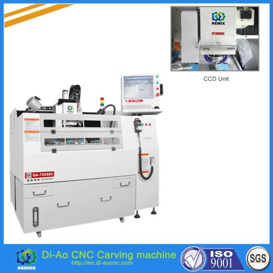 High Precision CNC Engraver with CCD Camera for Silicone Rubber Keypad, Window Lens, Optical Lens pictures & photos