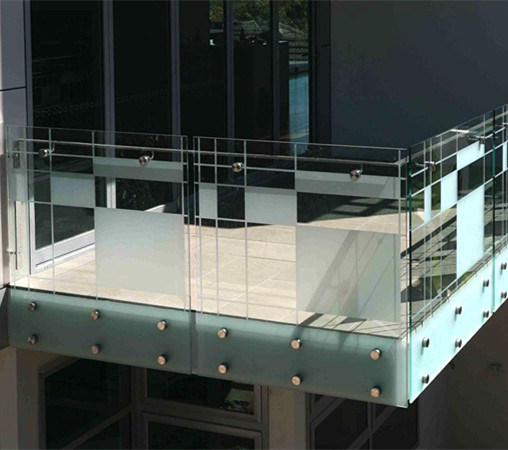 China Cement Balcony Glass Railing Designs For Front Porch