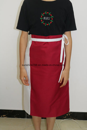 Mix Color Cloth Bistro Cooking Kitchen Apron pictures & photos