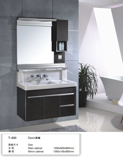 Small Size Wall Mounted Project Modern Stainless Steel Bathroom Cabinets