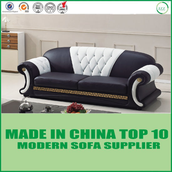 Divani Casa Versace Living Room Chesterfield Black Leather Sofa Set