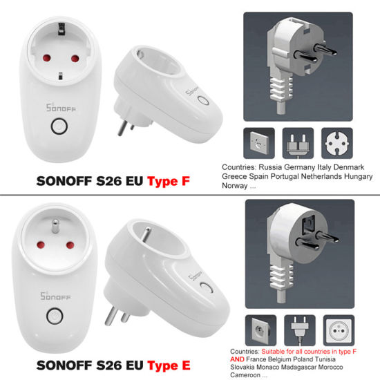 China Smart Home Sonoff S26 WiFi Smart Socket Wireless Plug