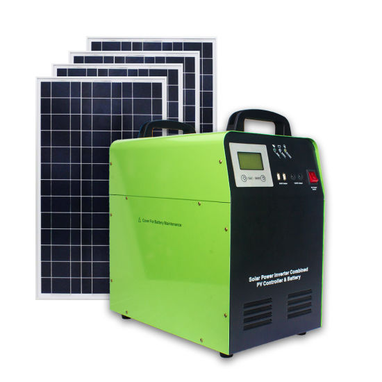 Home Solar Generator off Grid Hybrid Inverter Solar Power System 1kw