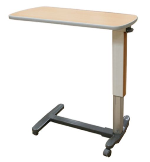 Hospital Overbed Table, Hospital Bedside Tables with Good Quality Gas Spring pictures & photos