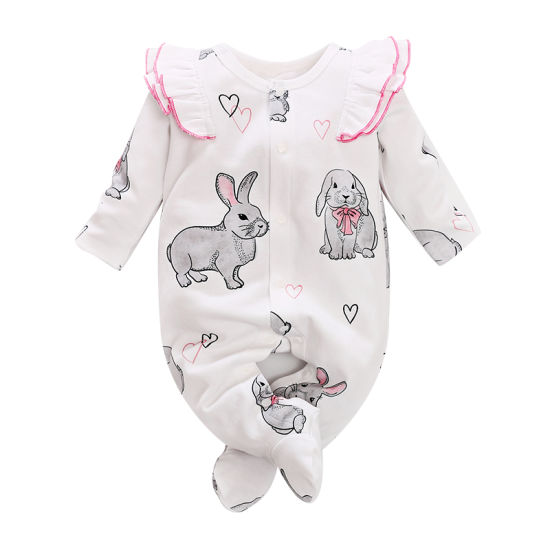 New Print Does Not Show Feet Baby Girl Jumpsuit Cheap Children's Clothes