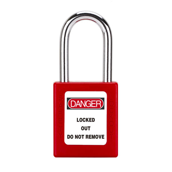 38mm Stainless Steel Shackle Customized Colorful Safety Padlock with Ce Certificate