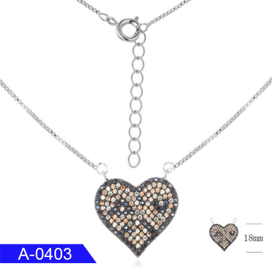 18mm Silver Yellow Plated Heart Pendant