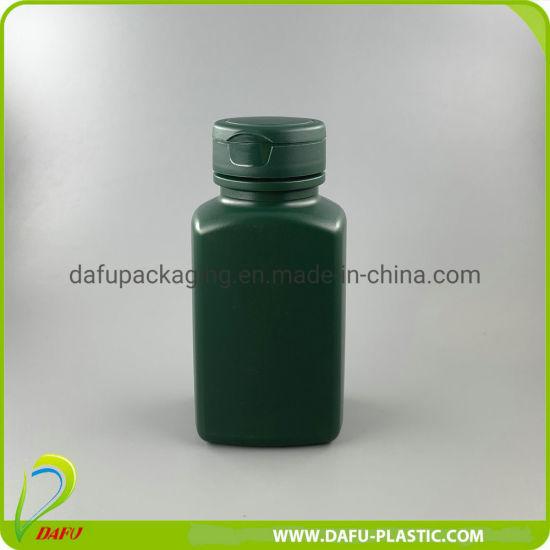 160ml HDPE Rectangular Plastic Container with Flip Top Cap