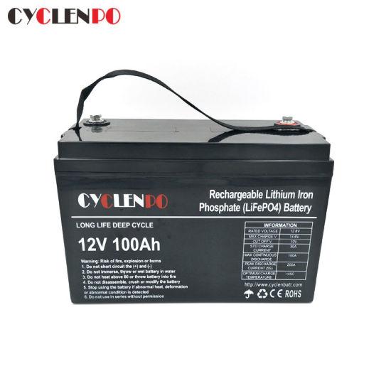 Deep Cycle Li Ion Litium 12V 24V 100ah 150ah 200ah 300ah Lithium Ion LiFePO4 Battery Pack for Power and Solar Storage