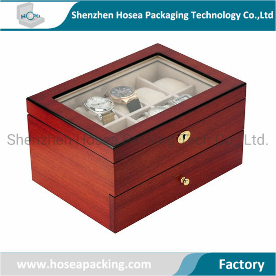 New High Quality Custom Multifunction Wooden High End Watch Storage Box for Watch Display