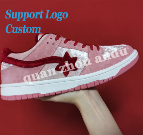 Custom Logo Casual Running Shoes Leather Basketball Sports Shoes