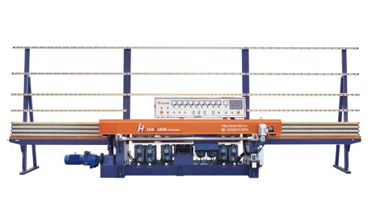 9 Motors Automatic Straight Line Glass Polishing Machine