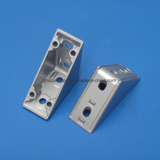 3060/4080/4590 Zn Alloy Bracket with Cover Cap, Aluminum Profile Accessories