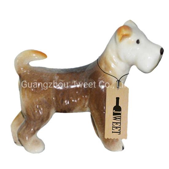 Custom Little Dog Shape 750ml Spirit Wine Ceramic Bottle