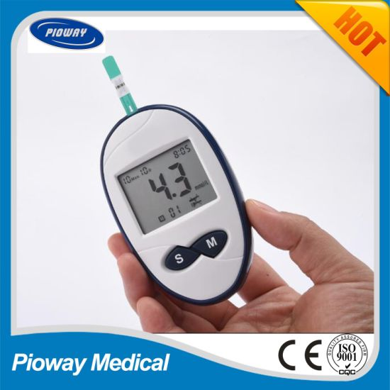 China Blood Sugar Glucose Meter, Glucometer with Strip (GLM-76)