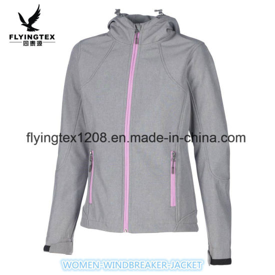 Women's Outdoor Sports Wear High Quality Softshell Jacket Lady Clothing